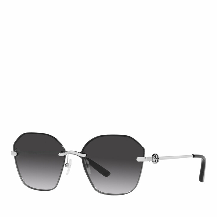 Sonnenbrille, Tory Burch, 0TY6081 SHINY SILVER METAL