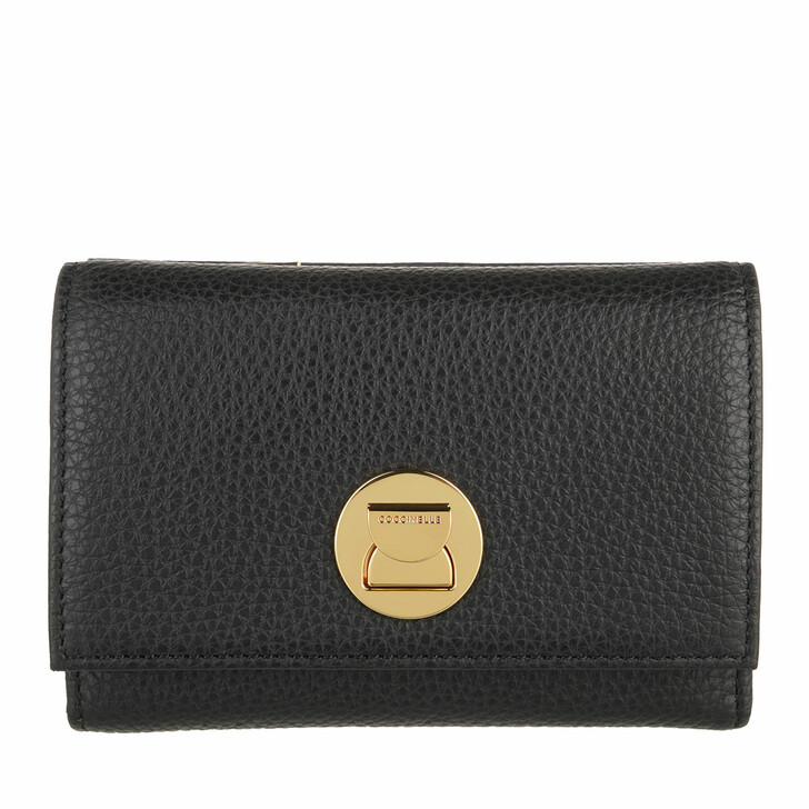 wallets, Coccinelle, Wallet Grainy Leather  Noir