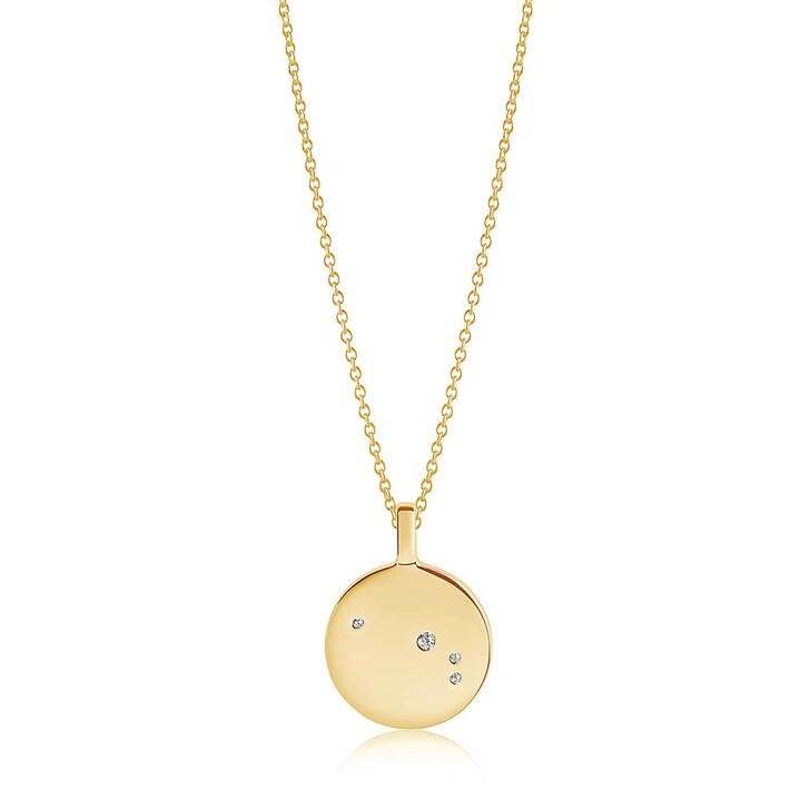 Kette, Sif Jakobs Jewellery, Zodiaco Aries Pendant White Zirconia 18K Gold Plated
