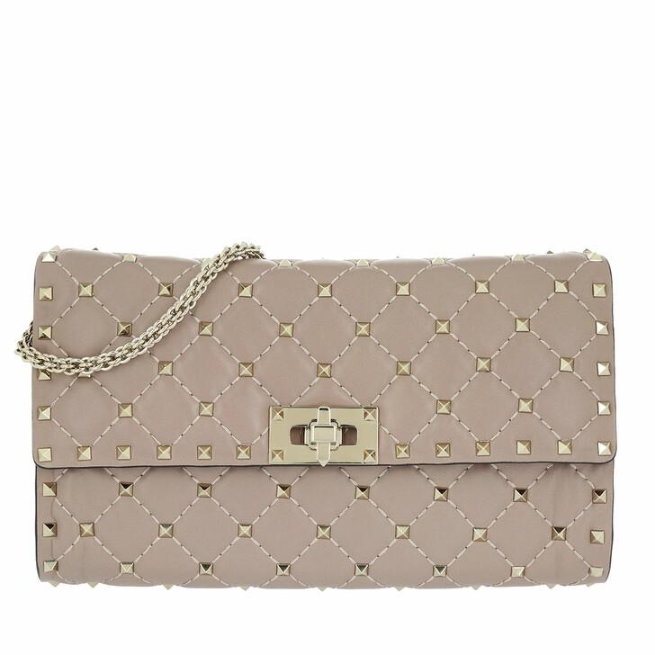 Handtasche, Valentino, Rockstud Spike Crossbody Bag Poudre