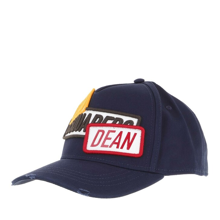 hats, Dsquared2, Dan And Dean Embroidered Baseball Cap Navy