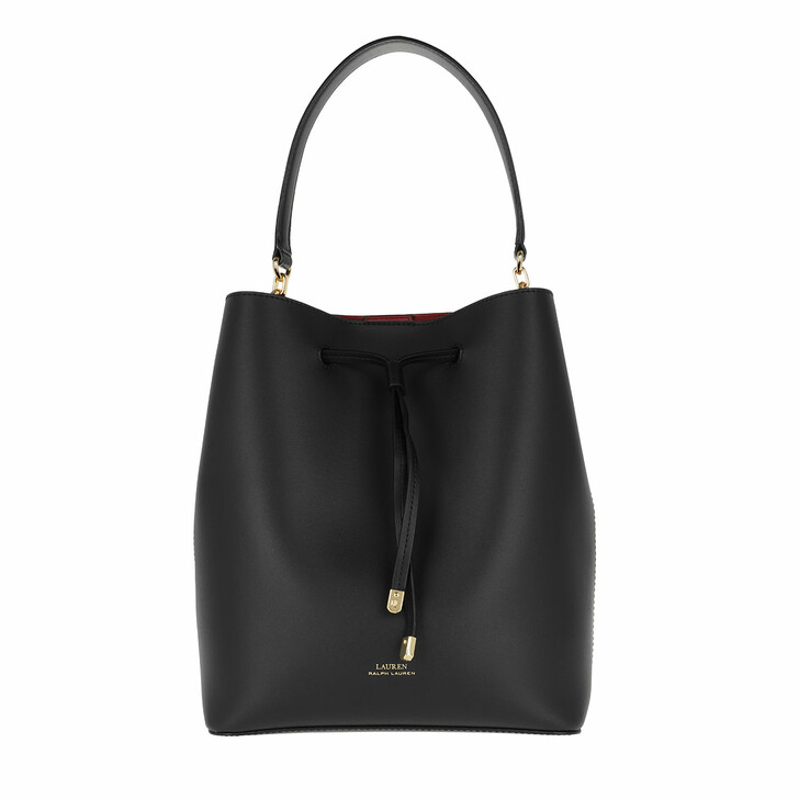 Handtasche, Lauren Ralph Lauren, Debby Drawstring Medium Black/Red