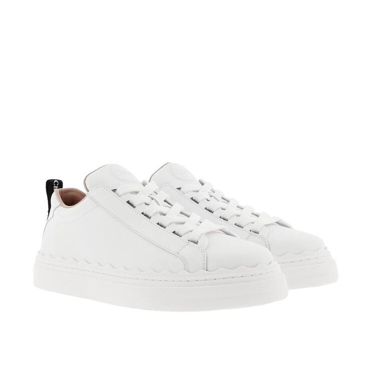 shoes, Chloé, Lauren Sneaker Smooth Calfskin White