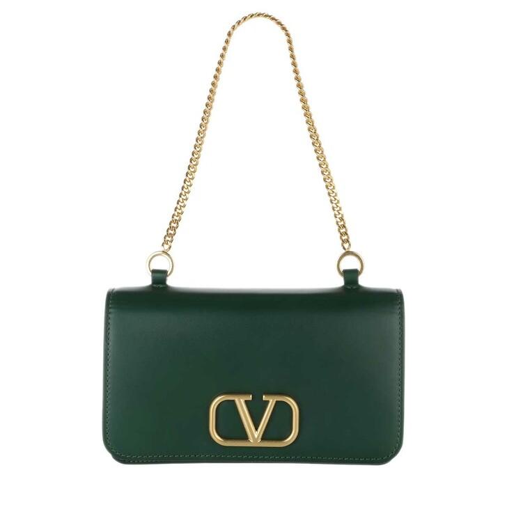 Handtasche, Valentino Garavani, Medium Pouch Leather English Green
