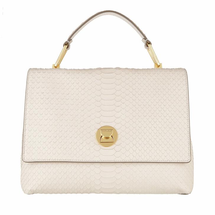Handtasche, Coccinelle, Liya Python Lulula Satchel Lambskin White