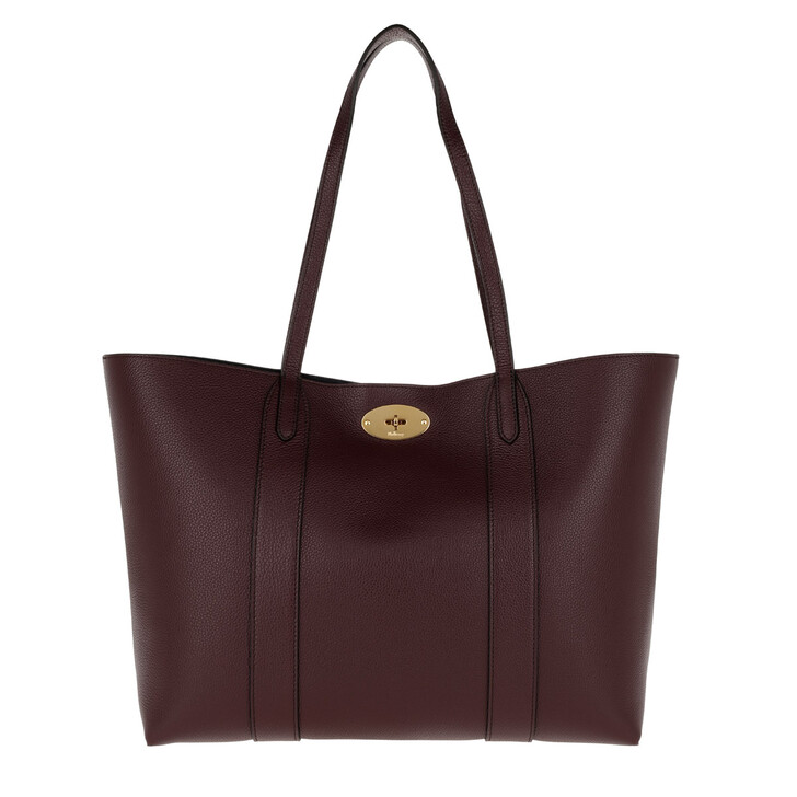 Handtasche, Mulberry, Baywater Tote Small Leather Burgundy