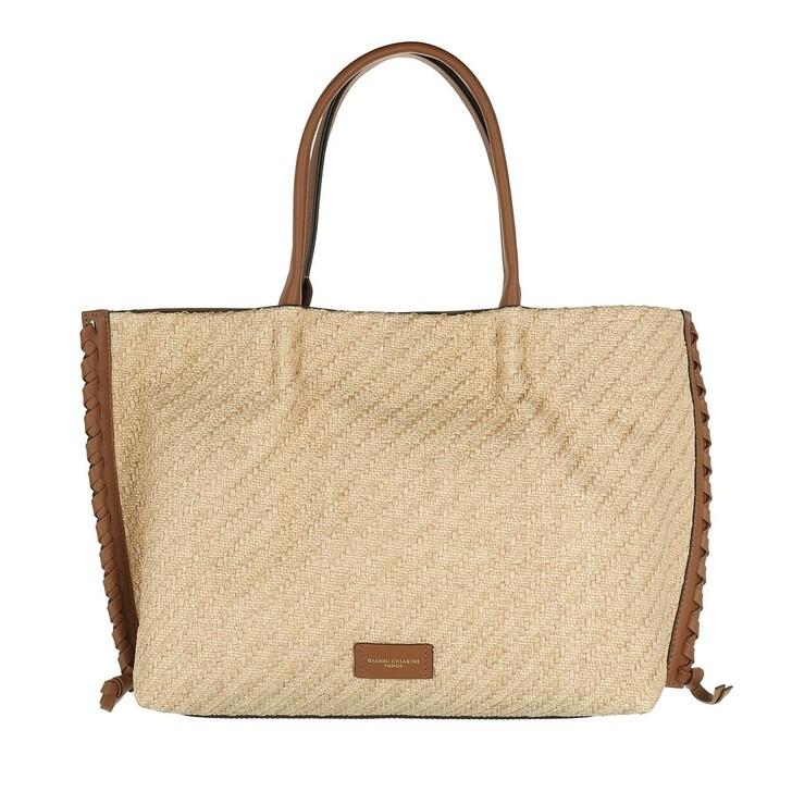 Handtasche, Gianni Chiarini, Two Handle Shopping Bag Leather Corda Cuoio