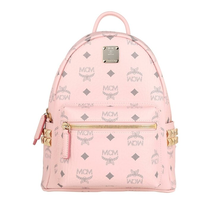 Reisetasche, MCM, Stark Visetos Monogram Backpack Powder Pink