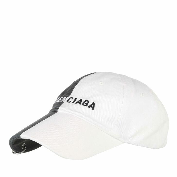 hats, Balenciaga, 50/50 Baseball Logo Cap Black/White