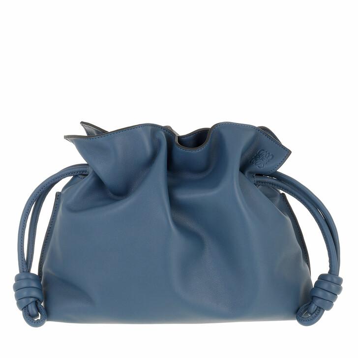 bags, Loewe, Flamenco Clutch Varsity Blue