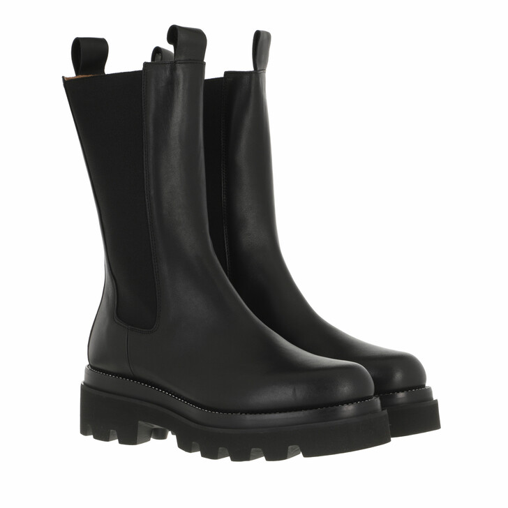 shoes, Toral, Chelsea Boot With Track Sole Crystales Black