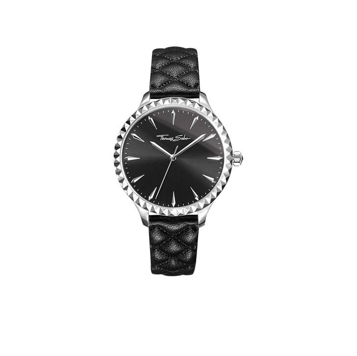Uhr, Thomas Sabo, Watch Rebel At Heart Black/Silver