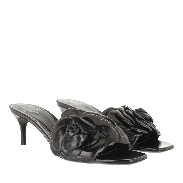 Schuh, Valentino Garavani, Atelier Flat Sandals Leather Black