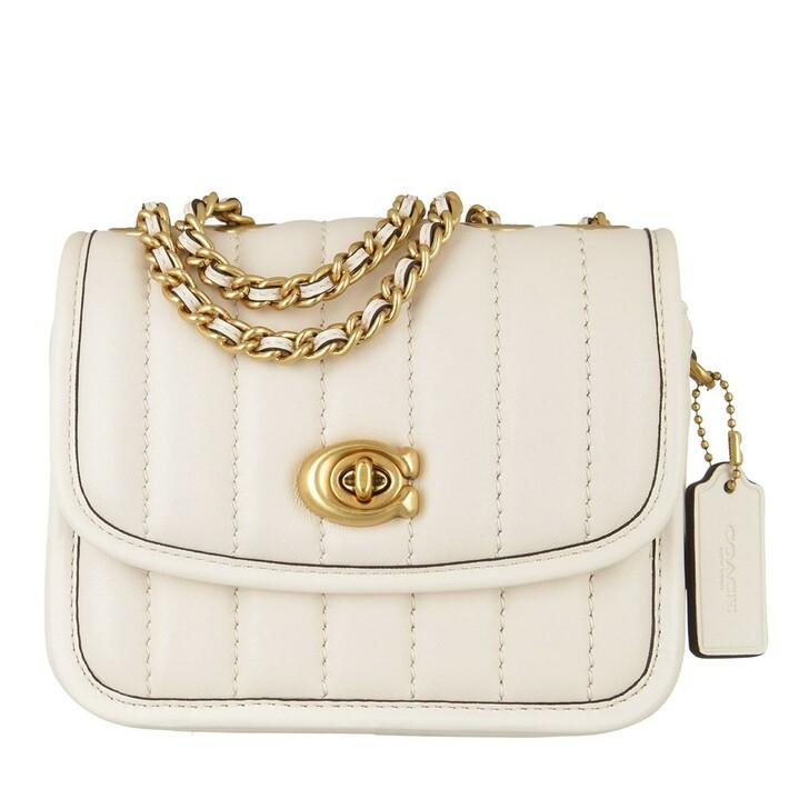 Handtasche, Coach, Quilted Leather Madison Shoulder Bag 16 B4/Chalk