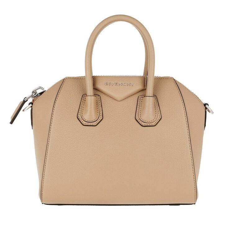 Handtasche, Givenchy, Antigona Mini Bag Beige Camel