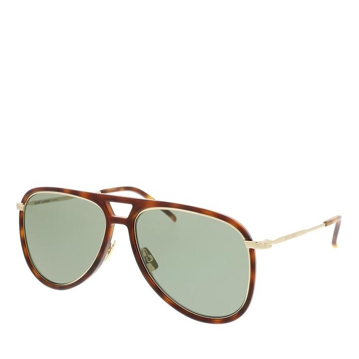 Sonnenbrille, Saint Laurent, CLASSIC 11 RIM Sunglass UNISEX INJECTION HAVANA-GOLD-GREEN