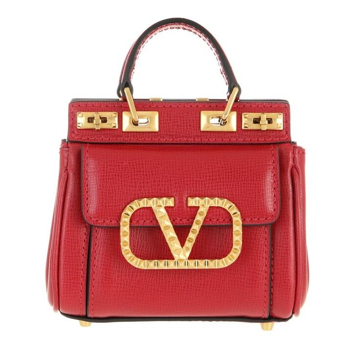 bags, Valentino Garavani, Rockstud Alcove Mini Handle Bag Rouge Pur