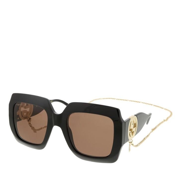 sunglasses, Gucci, GG1022S-005 54 Sunglass Woman Injection Black-Black-Brown