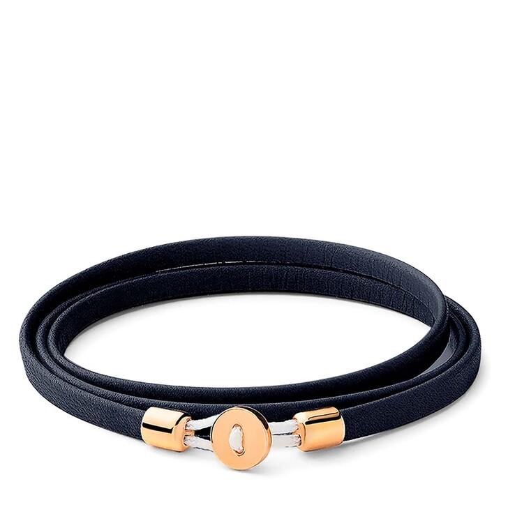 Armreif, Miansai, Nexus Wrap Bracelet Gold Vermeil Polished S Navy Blue