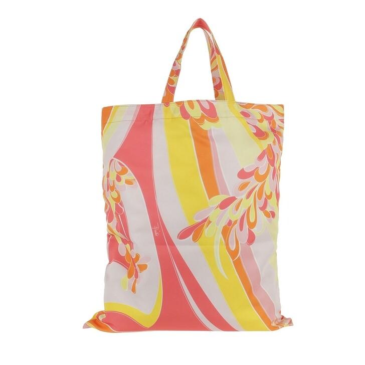 Handtasche, Emilio Pucci, Tote Bag Lilly All Over Giallo/Corallo