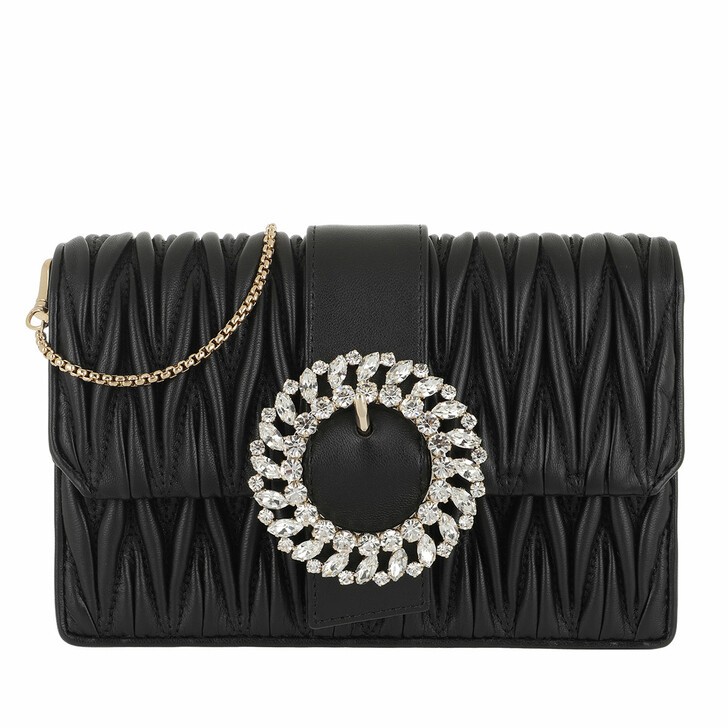 Handtasche, Miu Miu, Cross Body Small Chain Bag Bijou Black
