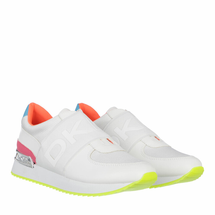 Schuh, DKNY, Marli Slip On Sneaker White Neon Pink