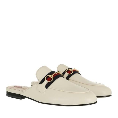 gucci -  Loafers & Ballerinas - Princetown Slipper Leather - in weiß - für Damen