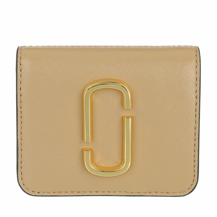 wallets, Marc Jacobs, Small The Snapshot Wallet Leather New Sandcastle Multi