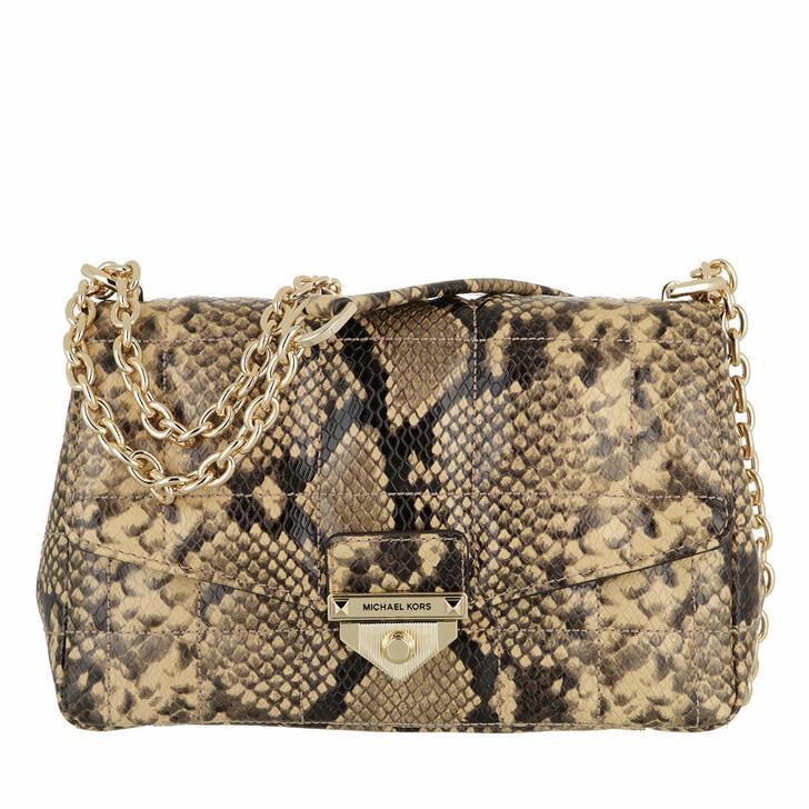 bags, MICHAEL Michael Kors, Large Chain Shoulder Camel