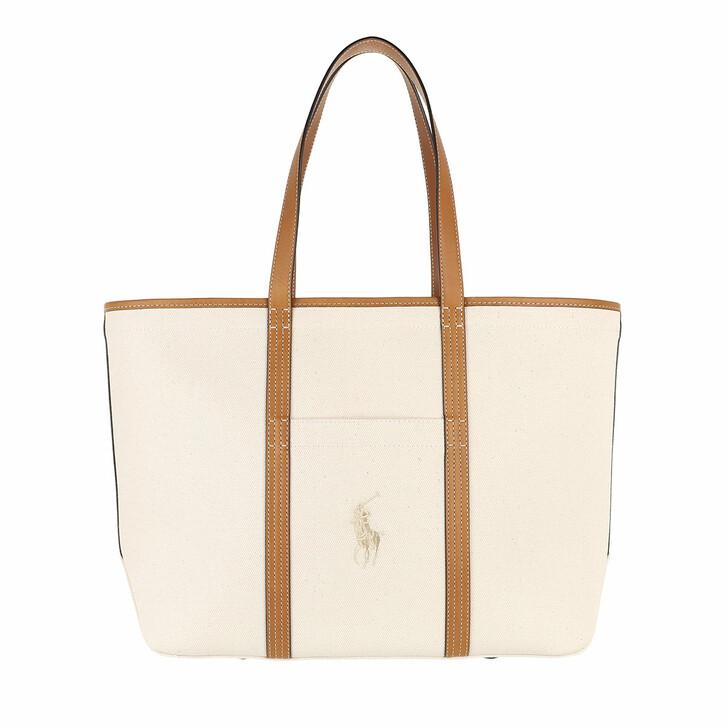 bags, Polo Ralph Lauren, Classic Tote Medium Ecru/Cuoio