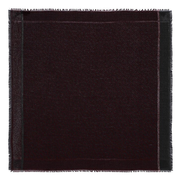 scarves, AIGNER, Logo Carré 100 x 100 cm Burgundy