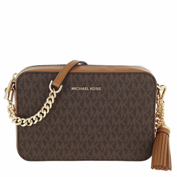 Handtasche, MICHAEL Michael Kors, Medium Camera Bag Brown