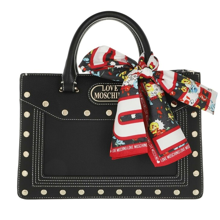 bags, Love Moschino, Handbag Black
