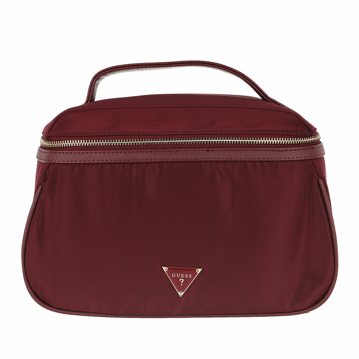 Reisetasche, Guess, Did I Say 90s Large Beauty Bag Burgundy