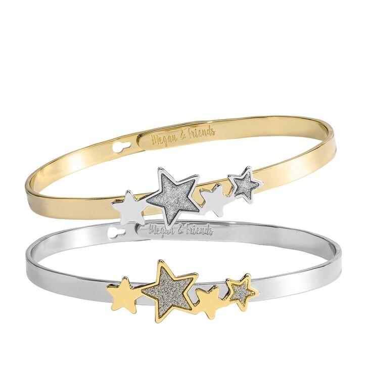 Armreif, Megan & Friends, Bangle Set Stars  Silver/Gold
