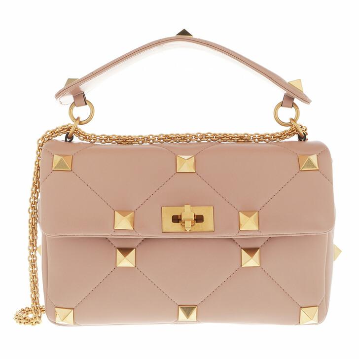 bags, Valentino Garavani, Rockstud Shoulder Bag Leather Cannelle