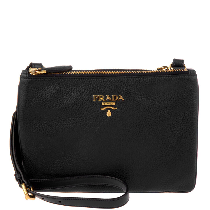 Handtasche, Prada, Crossbody Bag Vitello Daino Nero