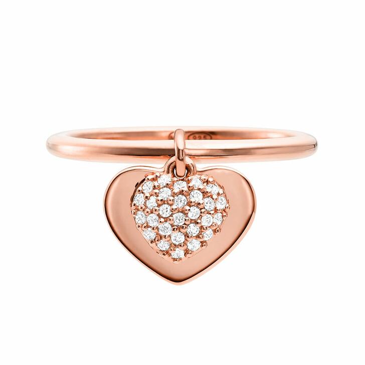 Ring, Michael Kors, MKC1121AN791 Love Heart Duo Ring Roségold