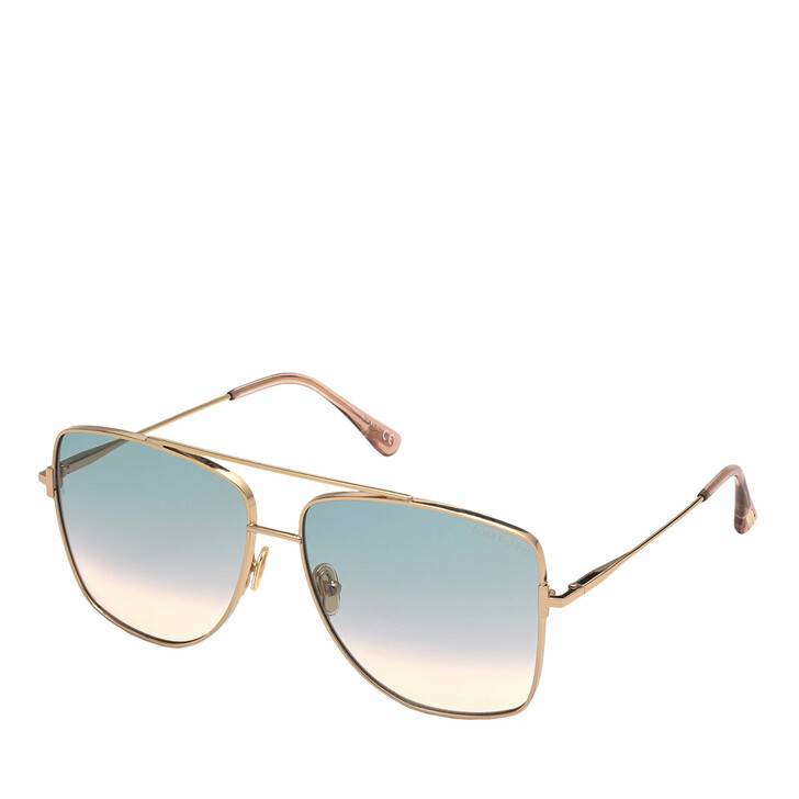 Sonnenbrille, Tom Ford, FT0838 Rose Gold/Green