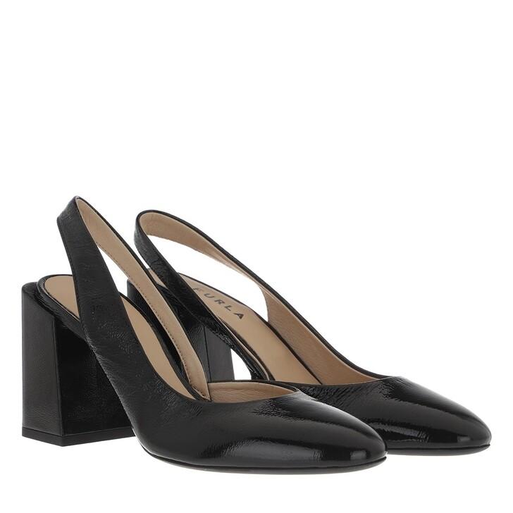 Schuh, Furla, Block Sling Back Heels T.80 Nero