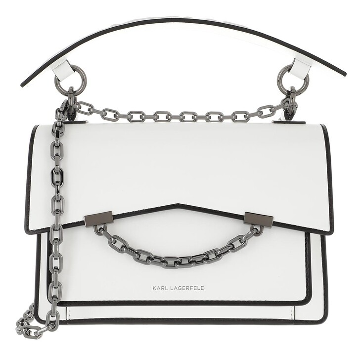 Handtasche, Karl Lagerfeld, Karl Seven W&B Shoulderbag White/Black