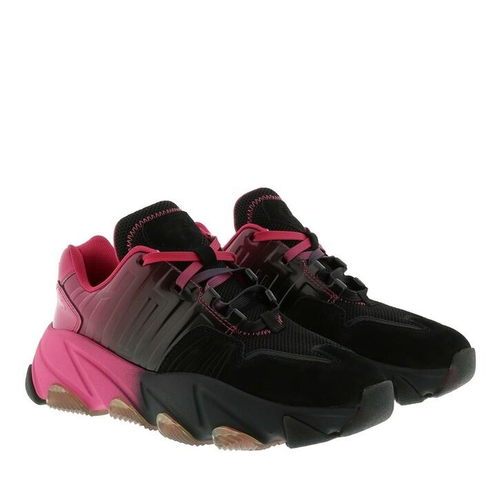 shoes, Ash, Extasy Nubuck Sneaker Combo B Black/Degrade Fuxia