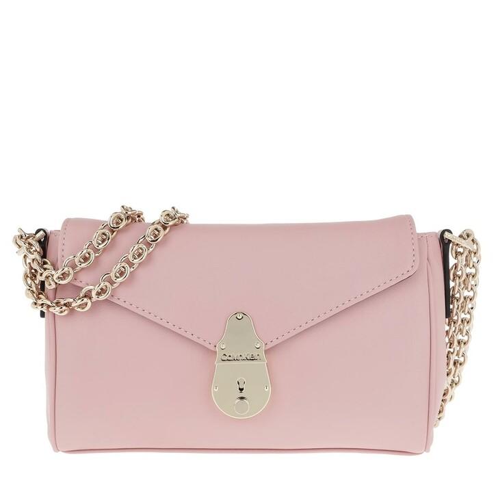 Handtasche, Calvin Klein, Soft Lock Shoulderbag Silver Pink