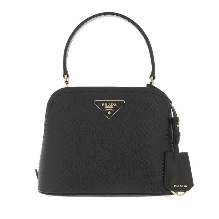 bags, Prada, Matineé Shoulder Bag Leather Black