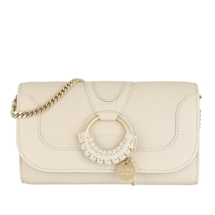 bags, See By Chloé, Hana Wallet On Chain Cement Beige