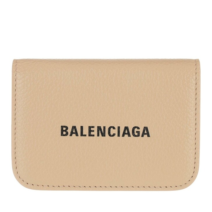 Geldbörse, Balenciaga, Mini Logo Cash Wallet Light Beige/Black