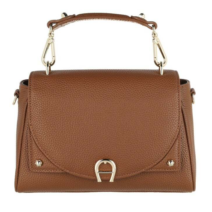 Handtasche, AIGNER, Diadora Satchel Bag Dark Toffee Brown