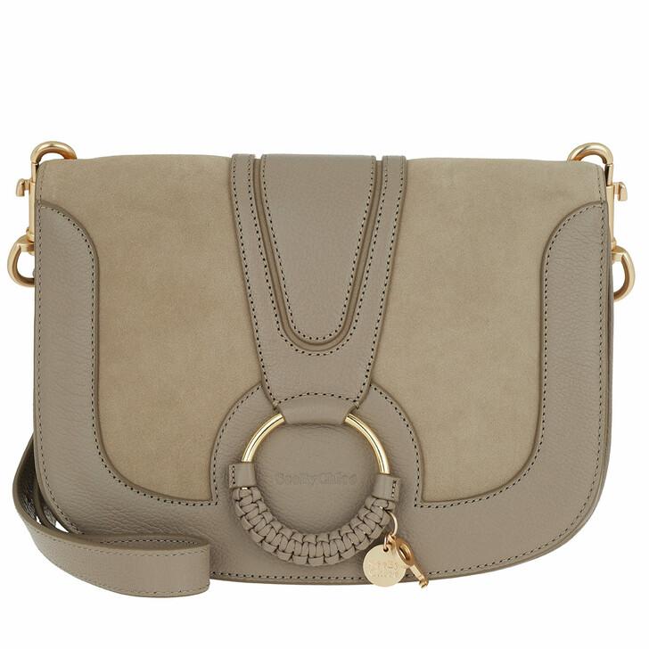Handtasche, See By Chloé, Hana Crossbody Bag Leather Motty Grey