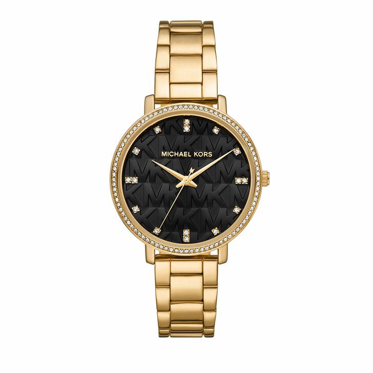 watches, Michael Kors, Women's Pyper Three-Hand Alloy Watch MK4593 Gold