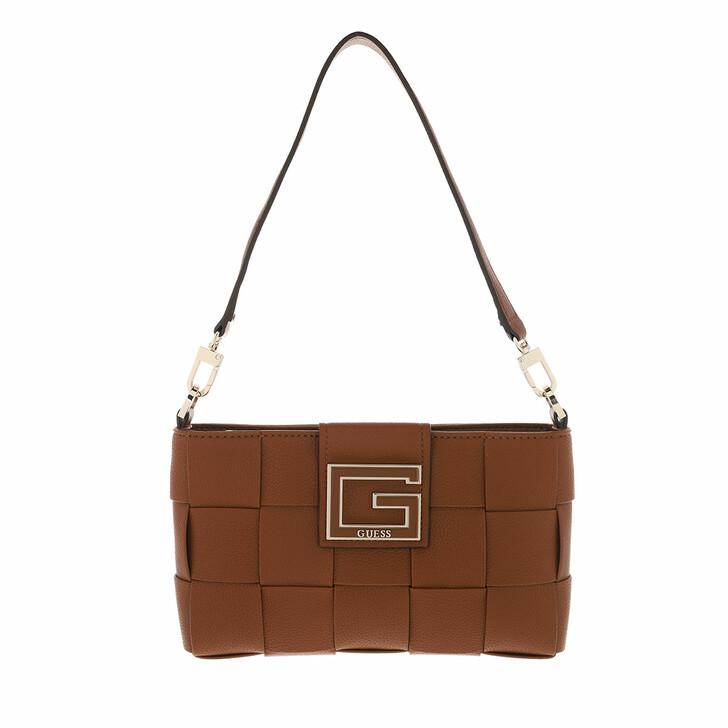 bags, Guess, Liberty City Top Zip Shoulder Bag Cognac